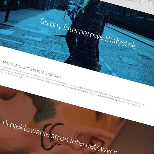 Strony internetowe one page
